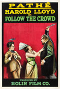 "Movie Posters:Comedy, Follow the Crowd (Pathé, 1918). One Sheet (27"" X 41"").. ..."