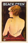 """Movie Posters:Drama, Black Oxen (First National, 1924). One Sheet (27"""" X 41"""").. ..."""