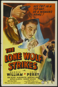"The Lone Wolf Strikes (Columbia, 1940). One Sheet (27"" X 41""). Mystery"