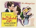 "Movie Posters:Drama, It's a Wonderful Life (RKO, 1946). Half Sheet (22"" X 28"") Style A....."