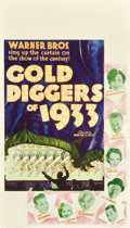"""Movie Posters:Musical, Gold Diggers of 1933 (Warner Brothers, 1933). Midget Window Card (8"""" X 14"""").. ..."""