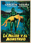 "Movie Posters:Horror, Creature From the Black Lagoon (Universal International, 1954).Spanish One Sheet (27.5"" X 39"").. ..."