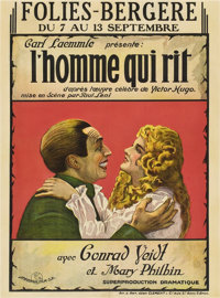 "The Man Who Laughs (Universal, 1928). Pre-War Belgian (24.5"" X 33"")"