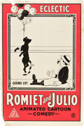 "Movie Posters:Animated, Romiet and Julio (Eclectic Films, 1915). One Sheet (27"" X 41"")....."