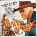 """Movie Posters:Western, Riders of the Deadline (United Artists, 1943). Six Sheet (81"""" X 81""""). Western.. ..."""