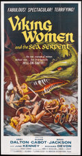 "Movie Posters:Fantasy, Viking Women and the Sea Serpent (American International, 1957).Three Sheet (41"" X 81""). Fantasy.. ..."