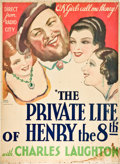 "Movie Posters:Drama, The Private Life of Henry VIII (United Artists, 1933). Two Sheet(40"" X 55"").. ..."