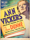 "Movie Posters:Drama, Ann Vickers (RKO, 1933). Two Sheet (40"" X 52"").. ..."