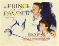"Movie Posters:Action, The Prince and the Pauper (Warner Brothers, 1937). Half Sheet (22"" X 28"").. ..."