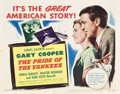 "Movie Posters:Sports, The Pride of the Yankees (RKO, R-1949). Title Lobby Card (11"" X 14"").. ..."