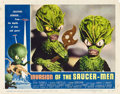 "Movie Posters:Science Fiction, Invasion of the Saucer-Men (American International, 1957). LobbyCard (11"" X 14"").. ..."