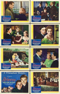 "Movie Posters:Hitchcock, Rebecca (United Artists, R-1946). Lobby Card Set of 8 (11"" X 14"")..... (Total: 8 Items)"