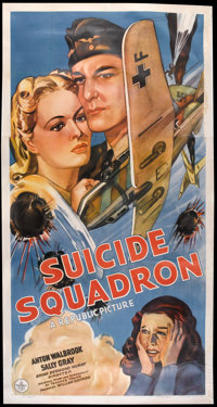 "Suicide Squadron (Republic, 1941). Three Sheet (41"" X 81""). War"