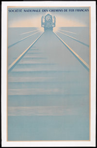 "French National Railways Poster (SNCF, 1946). Poster (24"" X 39""). Miscellaneous"