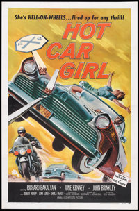 "Hot Car Girl (Allied Artists, 1958). One Sheet (27"" X 41""). Cult Classic"