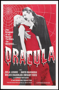 "Dracula (Universal, R-1960s). One Sheet (27"" X 41""). Horror"