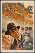 "Movie Posters:Crime, The Falcon in San Francisco (RKO, 1945). One Sheet (27"" X 41"").Crime.. ..."
