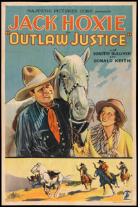"Outlaw Justice (Majestic Pictures, 1932). One Sheet (27"" X 41""). Western"
