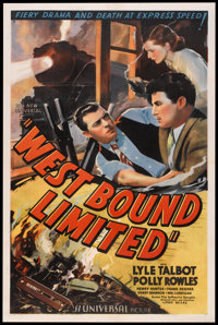 "West Bound Limited (Universal, 1937). One Sheet (27"" X 41""). Mystery"