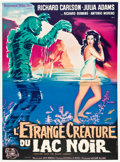 """Movie Posters:Horror, Creature from the Black Lagoon (Universal International, R-1960s). French Grande (47"""" X 63"""").. ..."""