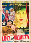 "Movie Posters:Drama, Variety Lights (Fincine, 1951). Italian 2 - Folio (39"" X 55"").. ..."