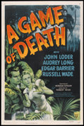 """Movie Posters:Horror, A Game of Death (RKO, 1945). One Sheet (27"""" X 41""""). Horror.. ..."""
