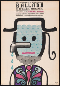 "The Ballad of Cable Hogue (Warner Brothers, 1972). Polish One Sheet (22.75"" X 33""). Western"