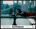 "Movie Posters:Action, Superman the Movie (Warner Brothers, 1978). Mini Lobby Cards (2) (11"" X 14""). Action.. ... (Total: 2 Items)"