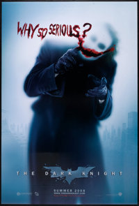 """The Dark Knight (Warner Brothers, 2008). One Sheet (27"""" X 40"""") DS Style Advance Style A. Action"""