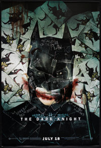 """The Dark Knight (Warner Brothers, 2008). One Sheet (27"""" X 40"""") SS Advance Style H. Action"""
