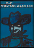 "Movie Posters:Thriller, Bad Day at Black Rock (MGM, 1966). Polish One Sheet (22.75"" X 32"").Thriller.. ..."