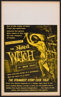 """The Naked Witch (William Mishkin Motion Pictures Inc., 1967). Window Card (13.75"""" X 22""""). Horror"""