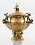 Silver Holloware, British:Holloware, A WILLIAM IV SILVER GILT COVERED PRESENTATION CUP. Joseph and JohnAngell, London, England, 1831-32. Marks: (lion passant), ...(Total: 2 Items)