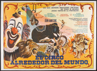 """Rings Around the World (Columbia, 1966). Argentinean Poster (42.25"""" X 59""""). Documentary"""