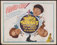 "The Three Stooges Go Around the World in a Daze (Columbia, 1963). Lobby Card Set of 8 (11"" X 14""). Comedy..."