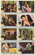"""Movie Posters:Film Noir, The Killers (Universal, R-1956). Lobby Card Set of 8 (11"""" X 14"""").. ... (Total: 8 Items)"""