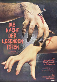 """Night of the Living Dead (Continental, 1968). German A1 (23"""" X 33"""")"""