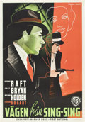 "Movie Posters:Crime, Invisible Stripes (Warner Brothers, 1939). Swedish One Sheet (27.5""X 39.5"").. ..."