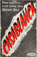 "Movie Posters:Drama, Casablanca (Warner Brothers, 1942). Pressbook (10.5"" X 17"", Multiple Pages).. ..."