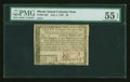 Colonial Notes:Rhode Island, Rhode Island July 2, 1780 $8 PMG About Uncirculated 55 EPQ....