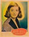 """Movie Posters:Drama, Bette Davis Personality Poster (Warner Brothers, Late 1930s) Half Sheet (28"""" X 22"""").. ..."""