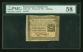 Colonial Notes:Pennsylvania, Pennsylvania October 25, 1775 2s PMG Choice About Unc 58....