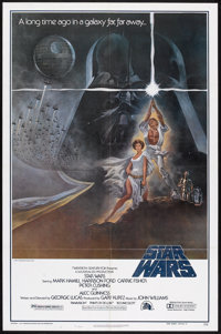 """Star Wars (20th Century Fox, 1977). One Sheet (27"""" X 41"""") Style A and Lobby Card (11"""" X 14""""). Scienc..."""