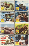 """Movie Posters:War, Sands of Iwo Jima (Republic, 1950). Lobby Card Set of 8 (11"""" X14"""").. ... (Total: 8 Items)"""