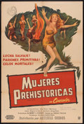 "Movie Posters:Adventure, Prehistoric Women (United Artists, 1950). Argentinean Poster (29"" X43""). Adventure.. ..."