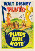"Movie Posters:Animated, Pluto's Blue Note (RKO, 1947). One Sheet (27"" X 41"").. ..."