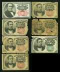 Fractional Currency:Fifth Issue, Fr. 1308 25c Fifth Issue Very Choice New.... (Total: 7 notes)