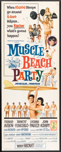 """Movie Posters:Comedy, Muscle Beach Party (American International, 1964). Insert (14"""" X 36""""). Comedy.. ..."""