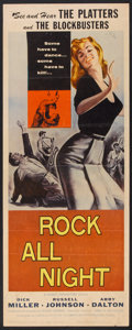 """Movie Posters:Crime, Rock All Night (American International, 1957). Insert (14"""" X 36"""").Crime.. ..."""