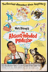 """The Absent-Minded Professor Lot (Buena Vista, R-1974). One Sheets (2) (27"""" X 41""""). Comedy. ... (Total: 2 Items..."""